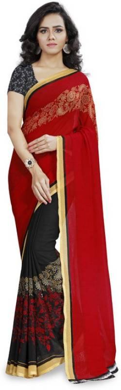 Kashvi Sarees Printed Daily Wear Poly Georgette Saree