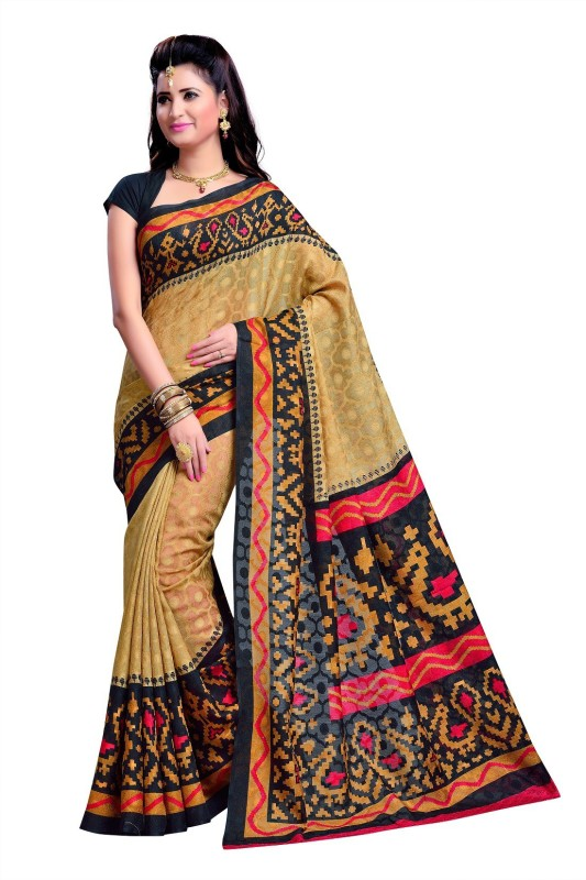 ELIGENCE Printed Fashion Art Silk Saree(Multicolor)