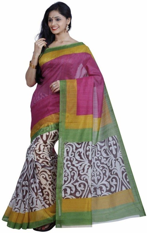 Salwar Studio Printed Bollywood Art Silk Saree(Multicolor)