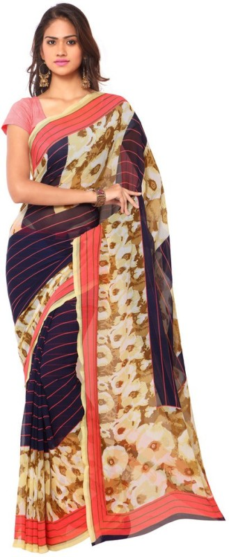 Ligalz Printed Fashion Chiffon Saree(Multicolor)