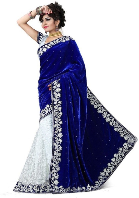 Fashions Bazaar Embroidered Bollywood Brasso Saree(Multicolor)