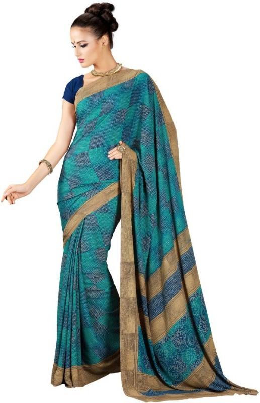 Desi Look Self Design Fashion Georgette Saree(Light Green)