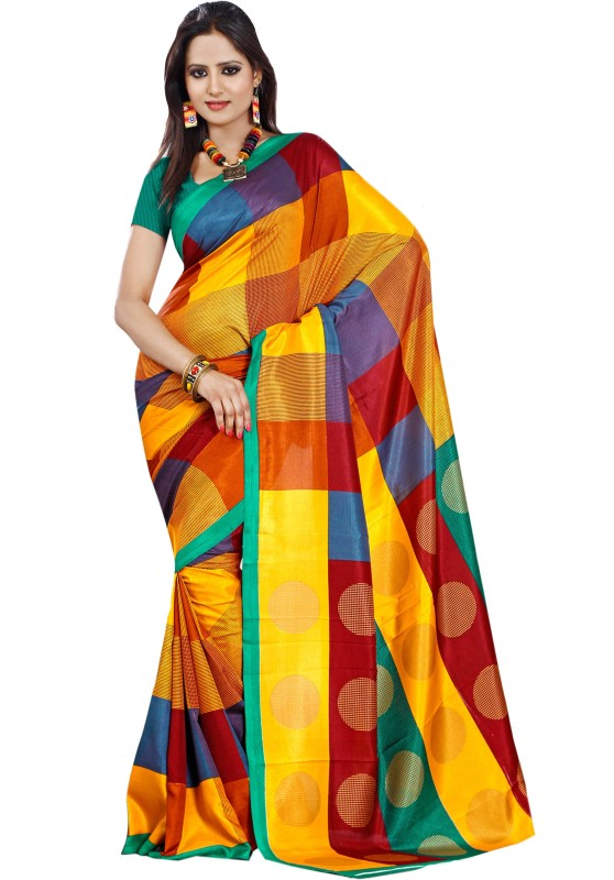Sunaina Printed Fashion Art Silk Saree(Multicolor)
