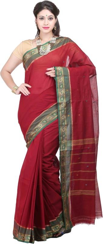 Goodway Striped Madurai Cotton Saree(Maroon)