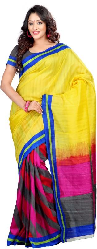 Sunaina Printed Fashion Cotton Lycra Blend Saree(Multicolor)