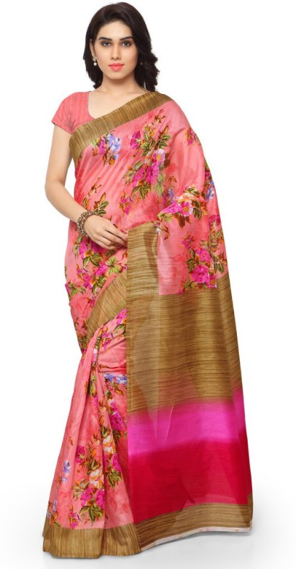 Sunaina Printed Bhagalpuri Art Silk Saree(Multicolor)