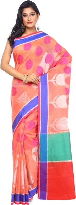 Kataan Bazaar Woven Banarasi Handloom Art Silk Saree(Pink)