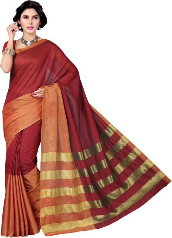 Rani Saahiba Solid Gadwal Cotton Saree(Maroon)