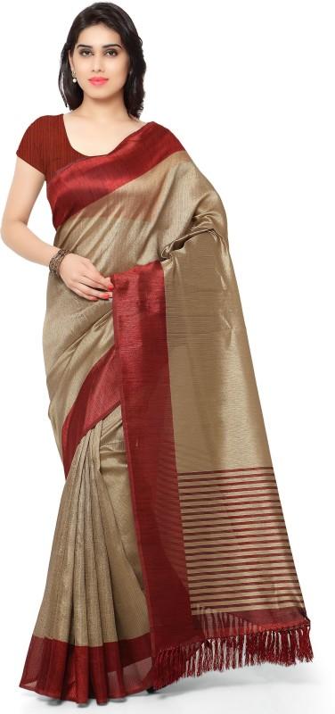 Rajnandini Printed Fashion Tussar Silk Saree(Maroon)