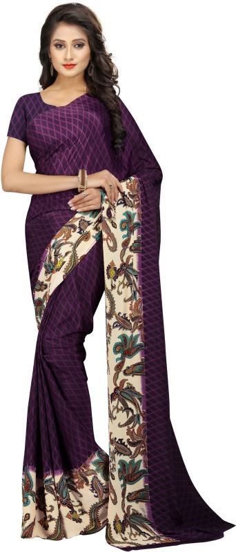 The Fashion Outlets Printed Fashion Crepe Saree(Multicolor)