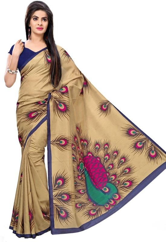 Gugaliya Printed Bollywood Art Silk Saree(Multicolor)