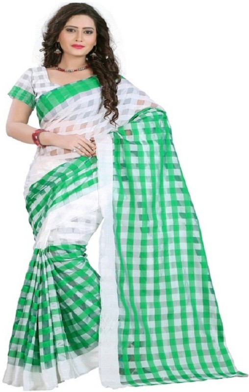 FabPandora Printed Fashion Silk Saree(Green)