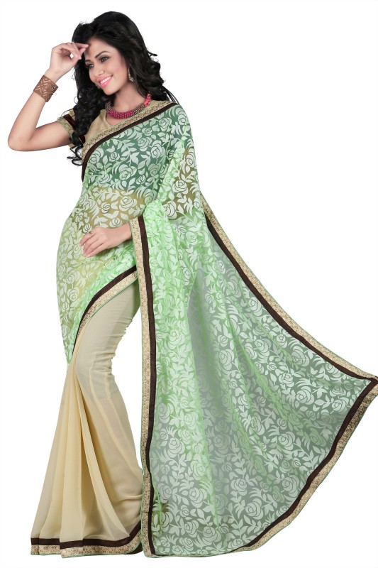 Gunjan Creations Solid Fashion Cotton Blend Saree(Mustard)