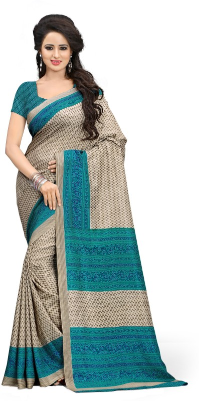 Saran Printed Bollywood Art Silk Saree(Multicolor)