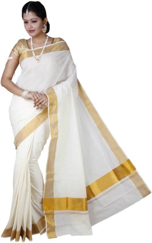 Fashionkiosks Self Design Balarampuram Handloom Cotton Saree(Multicolor)