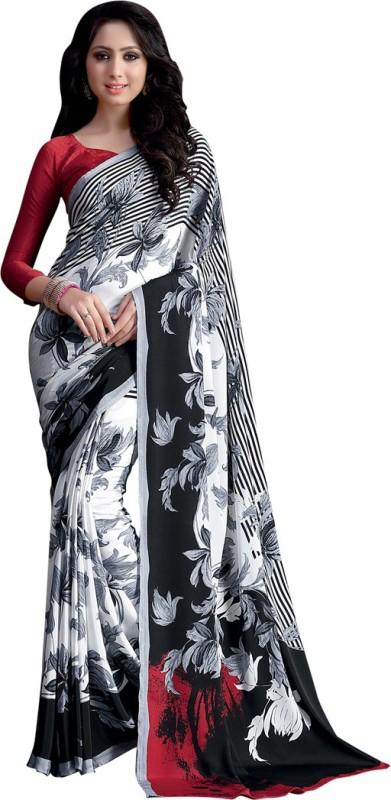 Saara Printed Daily Wear Crepe Saree(Multicolor)