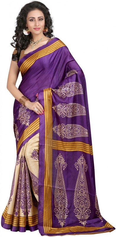 Women Latest Fancy Designer Printed Bhagalpuri Poly Silk Saree(Multicolor)
