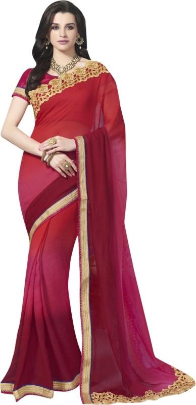 Triveni Self Design Fashion Georgette Saree(Maroon)