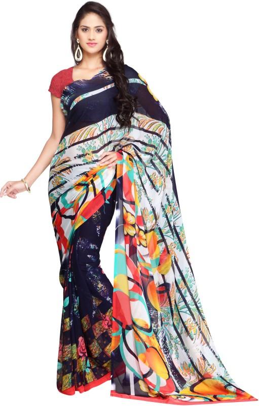 Ligalz Printed Fashion Handloom Chiffon Saree(Red)
