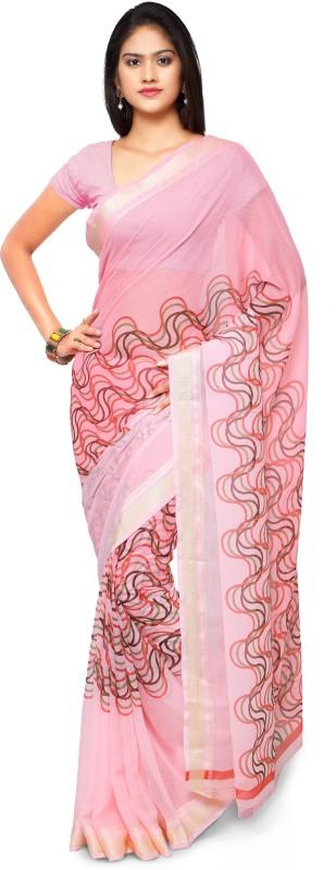 Patiala House Printed Fashion Poly Viscose Chiffon Saree(Pink)