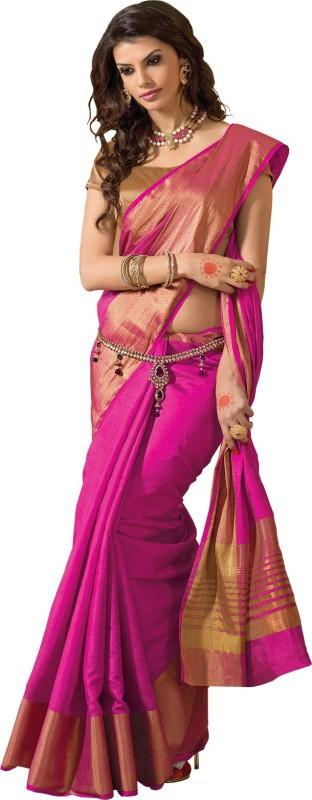 Taanshi Embellished Fashion Silk Saree(Pink)