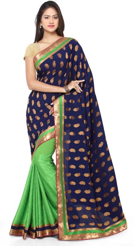 sarvagny clothing Self Design Fashion Jacquard Saree(Green)