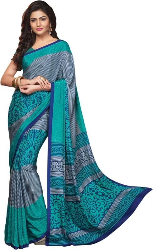 Triveni Printed Fashion Crepe Saree(Multicolor)