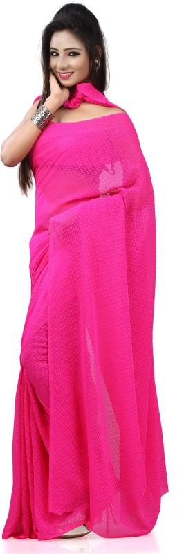 Khushali Self Design Fashion Georgette, Jacquard Saree(Pink)
