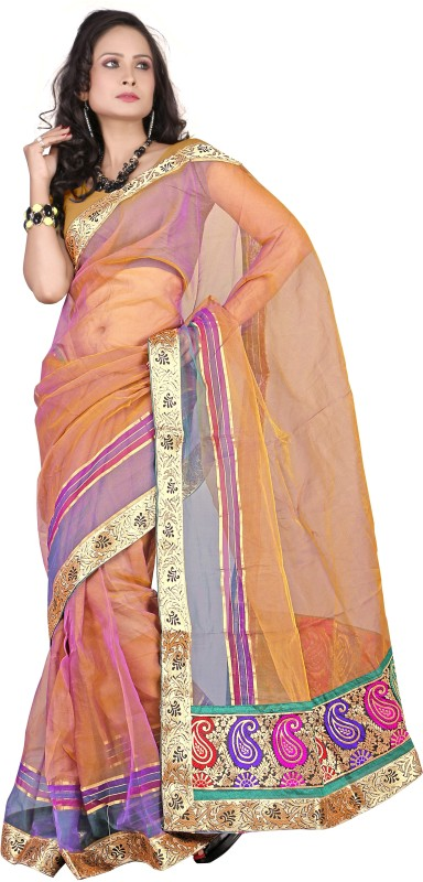 Suali Self Design Fashion Tissue Saree(Multicolor)