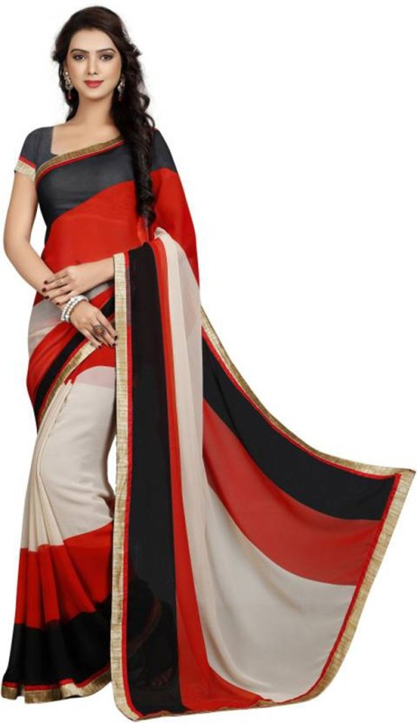EthnicPark Self Design Fashion Chiffon Saree(Multicolor)