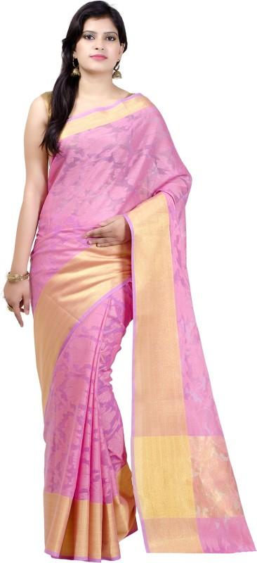 Chandrakala Self Design Banarasi Handloom Kota Cotton Saree(Pink)