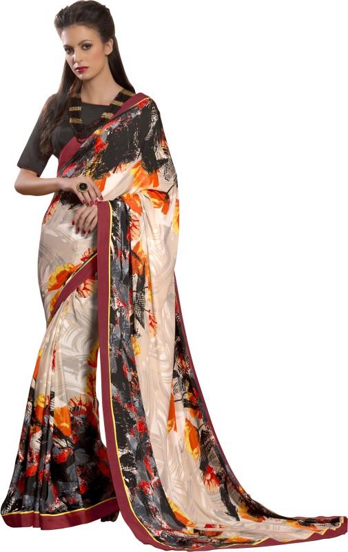 Khoobee Self Design, Printed Fashion Art Silk Saree(Multicolor)