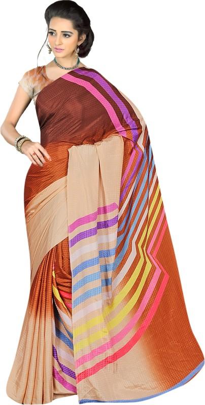 Khushali Self Design, Printed Fashion Jacquard Saree(Multicolor)