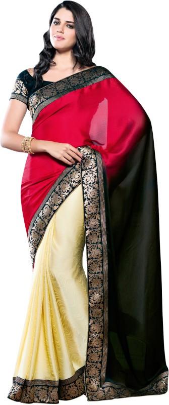 Vishal Printed Fashion Poly Georgette Saree(Maroon)