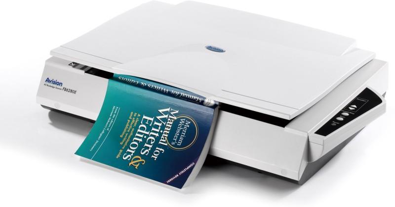Avision FB Book Edge FB6280E Scanner(White) image