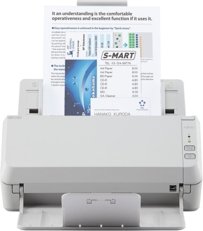 Fujitsu Scanpartner SP1130 Scanner(White)