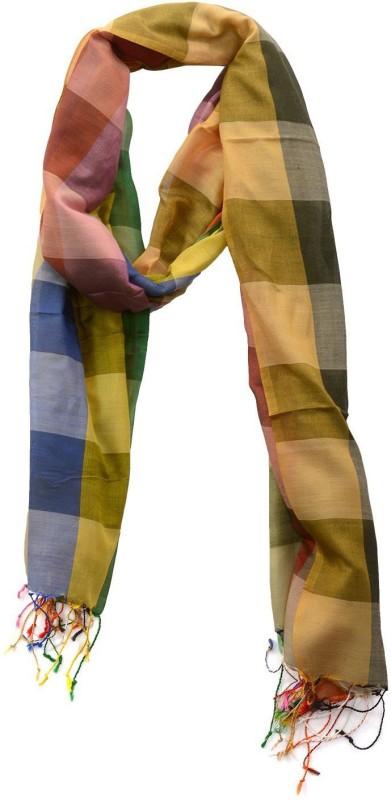 Dushaalaa Checkered Silk/Coton Women's Scarf