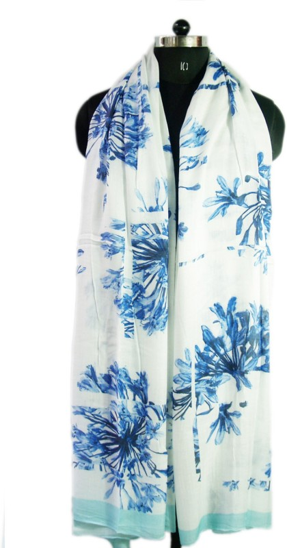 VR Designers Floral Print Cotton Tencel Blend Women Stole