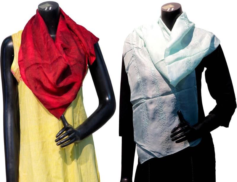 Bhoomija Embroidered Silk Women's Scarf