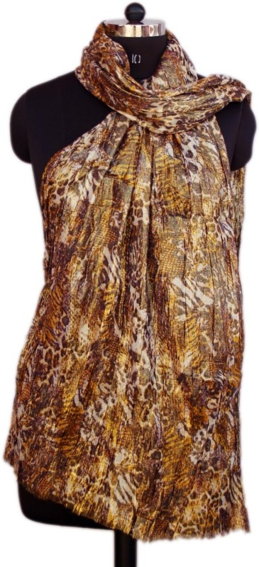 VR Designers Animal Print Cotton Viscose Blend Women Stole