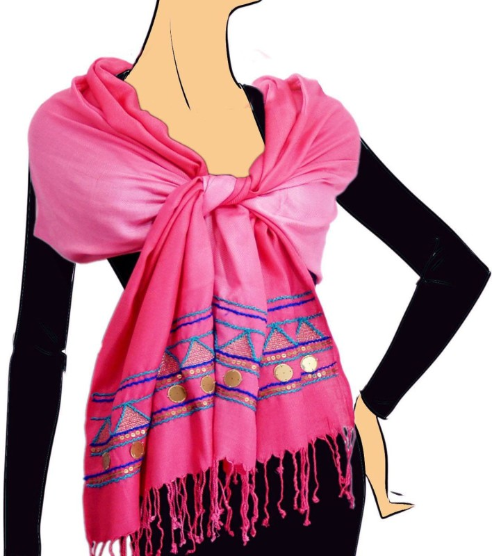 VR Designers Embroidered Viscose Women's Stole