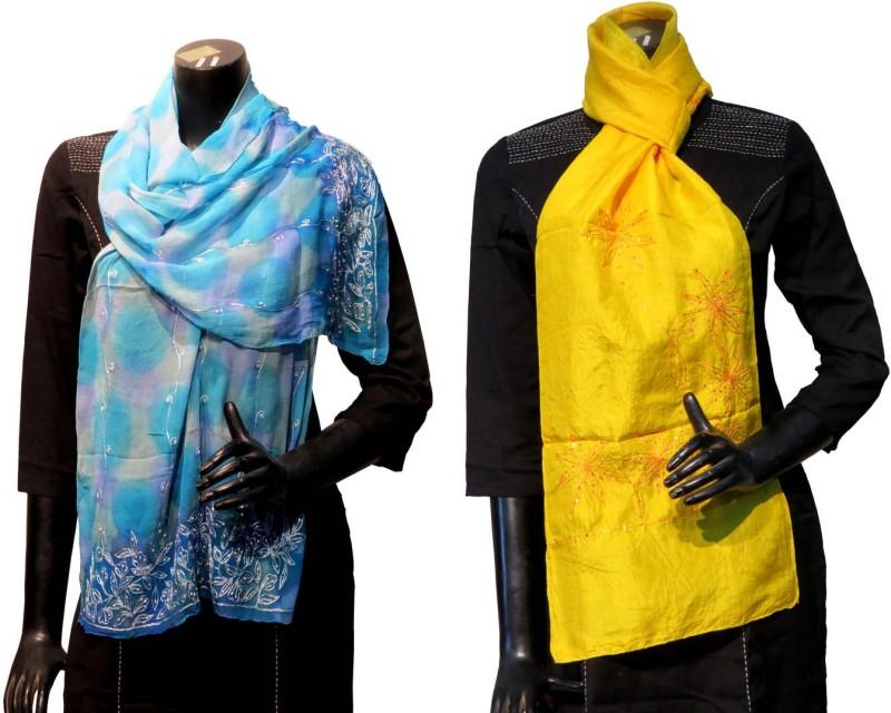 Bhoomija Embroidered Silk Women's Stole