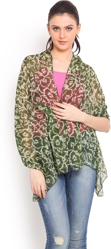 Trend Arrest Floral Print Polyester Women's Scarf