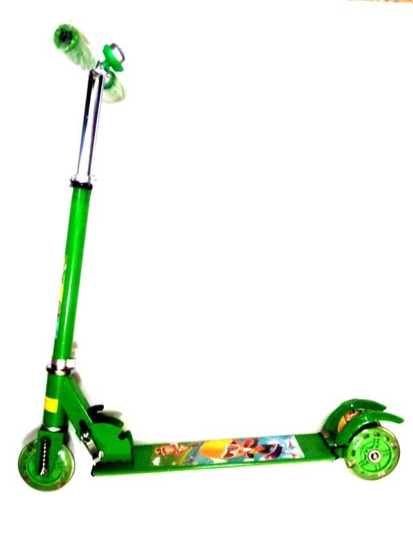 Palakz Three Wheel Manual Scooter(Green)