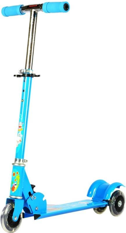 Zeemon 3 Wheel LED Tyres Tricycle Cycle Adjustable Stunt  Scooter(Blue)