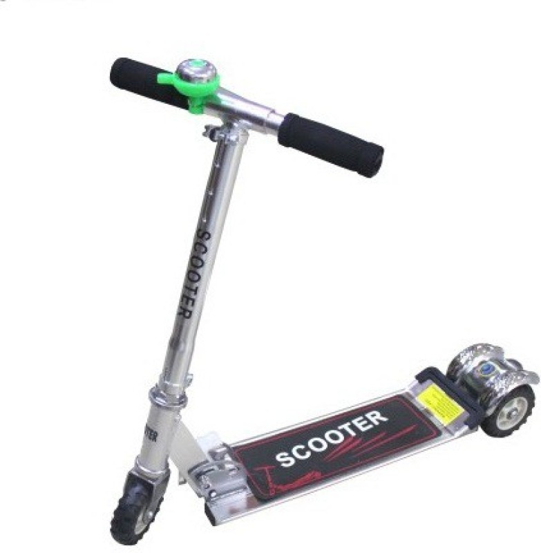 Sreshta Kids 3 Wheeler Sliver Foldable Height Adjustable S SCOOTER Scooter(Silver)