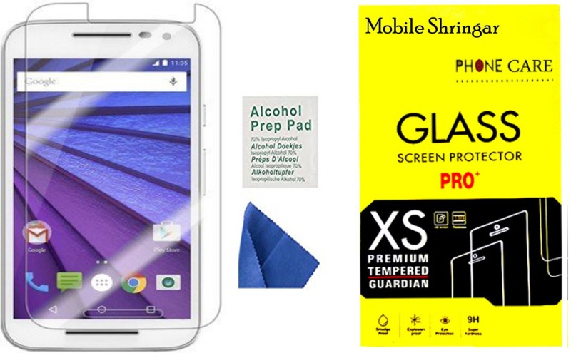 Mobile Shringar Tempered Glass Guard for Motorola Moto G (3rd Generation)