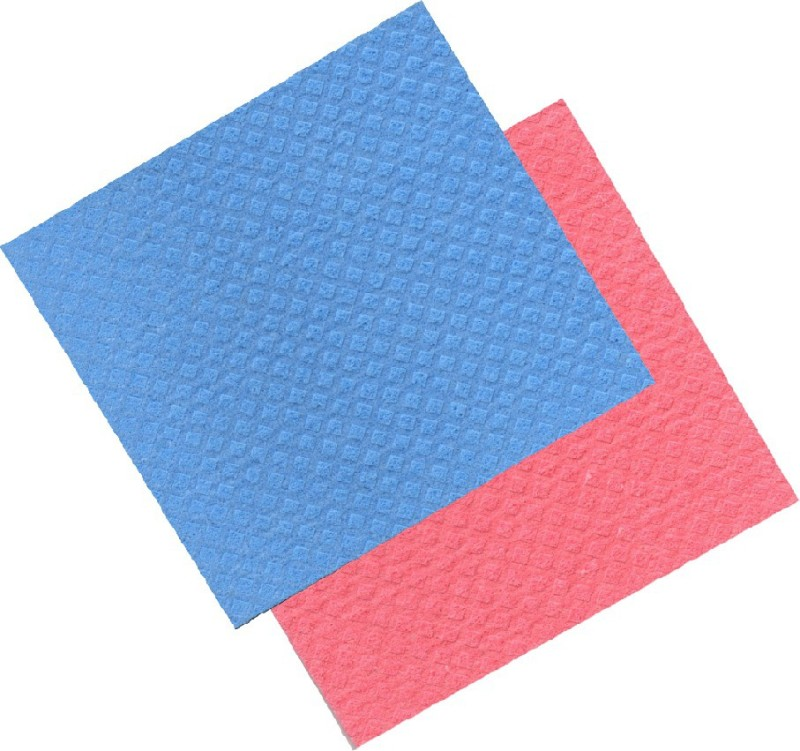 Clene 010101 Scrub Pad(Blue, Red, Yellow, Pack of 2)