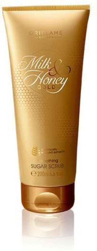 Oriflame Sweden Milk & Honey Gold Smoothing Sugar Scrub - New Scrub(200 ml)