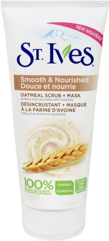 St. Ives Smooth & Nourished Oatmeal Scrub + Mask Scrub(149 ml)